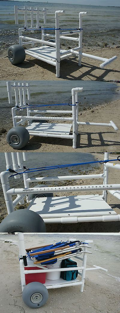 Fishing Carts and Wagons 179993: Fishing Cart- Heavy Duty- Pvc- With Xtra Wide Wheeleez Tires BUY IT NOW ONLY: $450.0
