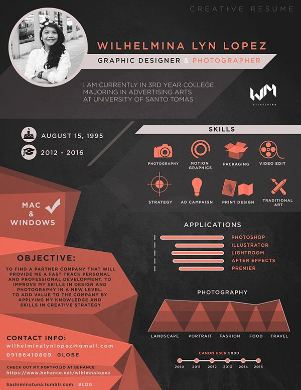 86 best Inspiring Visual CVs/Resumes images on Pinterest Resume