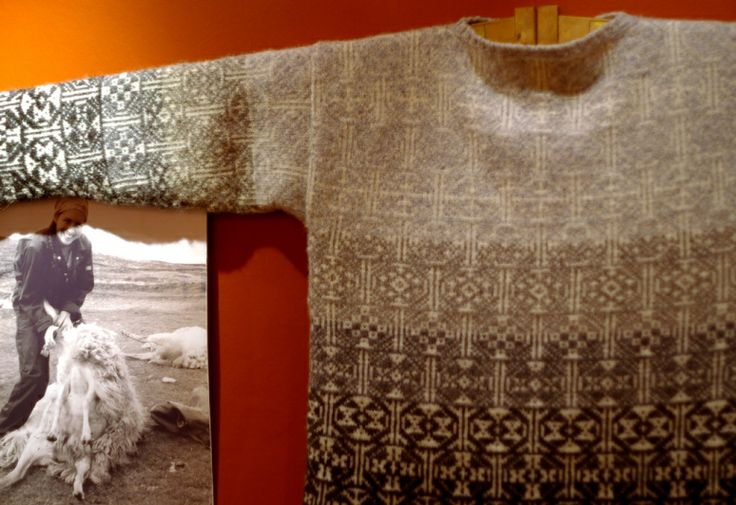 Extraordinary work by Mati Ventrillon displayed at Vaila Fine Art during Shetland Wool Week