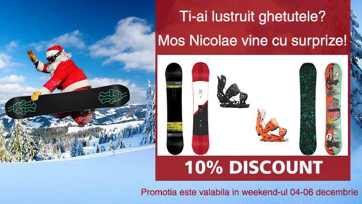 Mos Nicolae da tonul promotiilor de sezon! Va asteptam in acest weekend sa va luati placa Flow Snowboarding sau Bataleon Snowboards cu 10% Discount!  http://goo.gl/7L2m7S