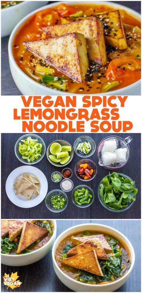 Spicy Lemongrass Noodle Soup | The Viet Vegan