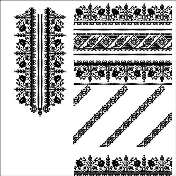 Сокальская вышиванка 4 Дизайн машинной вышивки - купить в Львове   Етно-Вишивка