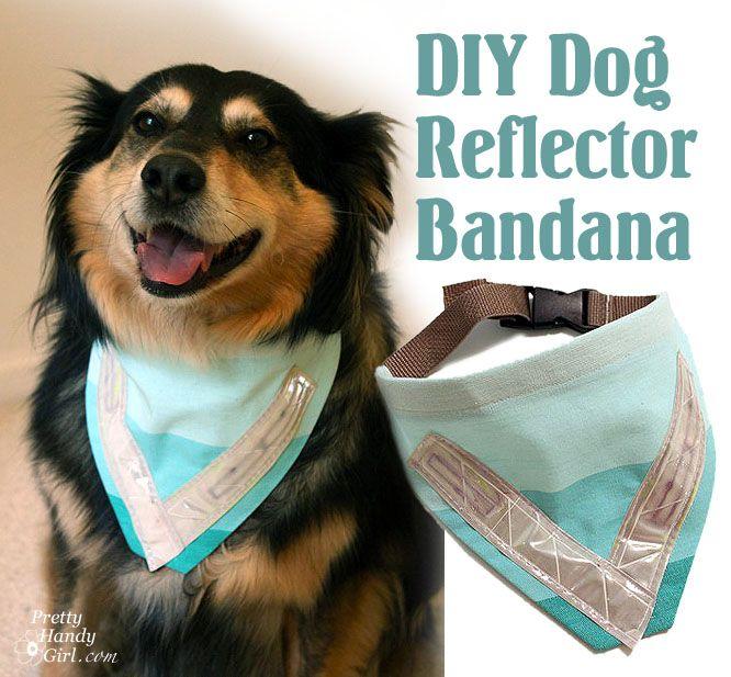 Sew Your own Dog_reflector_bandana_pin by Pretty Handy Girl