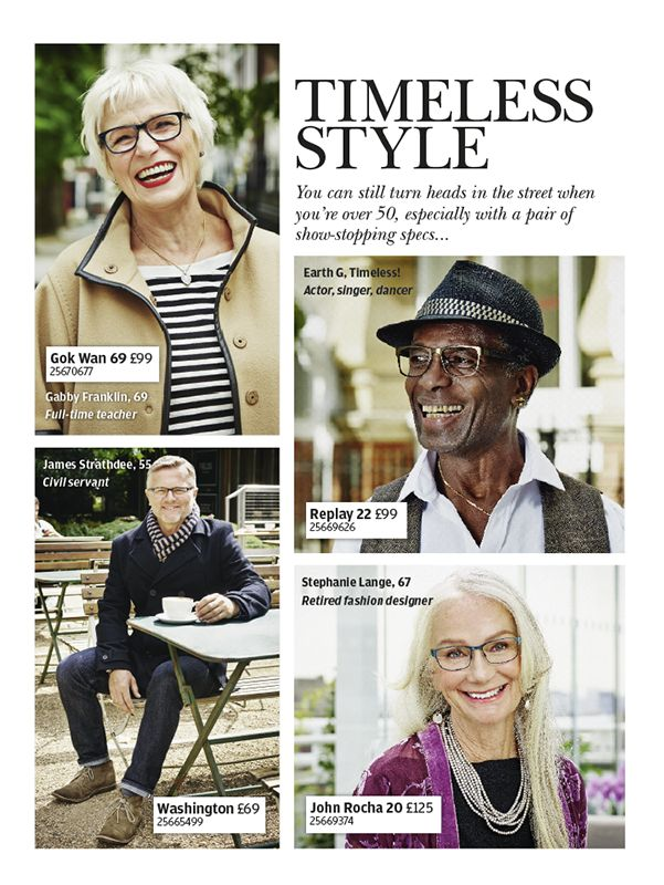 Show-stopping specs for the over-50s.