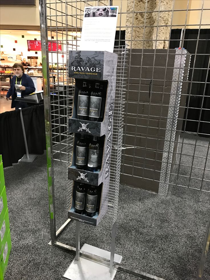 Ravage Wines Free Standing Unit - Looking to get noticed with your point of sale display in a busy, fast-paced retail environment? Increase confidence in your sales with www.popthis.com.au