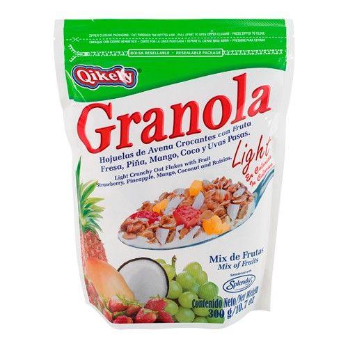 Granolas Light Qikely: 100% Avena, baja en calorías, sin azúcar añadida. Para un desayuno y una merienda deliciosa y baja en calorías. #Avena #Oats #oatmeal #granola #light #cereal
