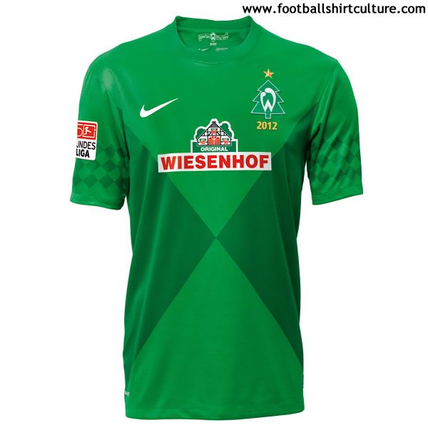 Werder Bremen 2012 Nike Christmas Football Shirt // with 50th Years Bundesliga's Patch, this is perfect