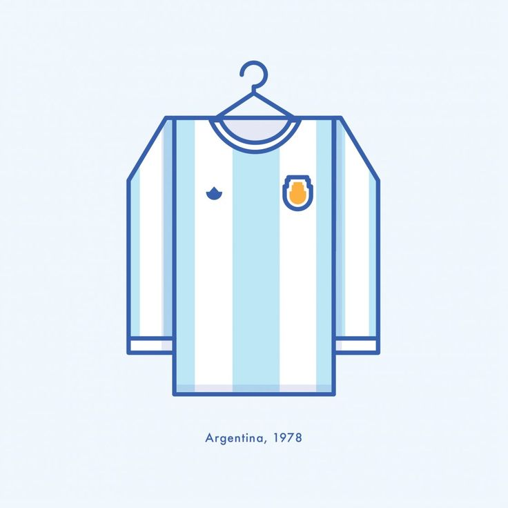 World Cup Minimal Football Kits Argentina 1978 Illustration | Lucas Jubb Design & Illustration
