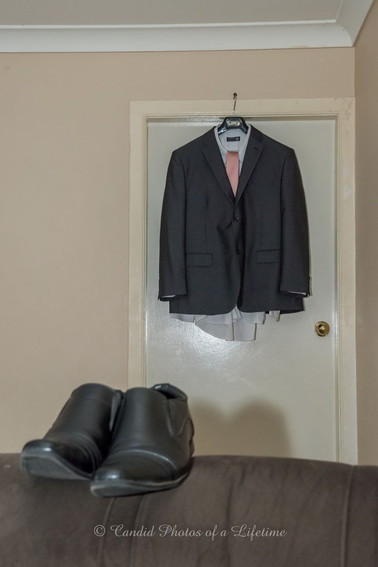 Wedding photographer, Candid Photos of a Lifetime  The Groom's suit and shoes
