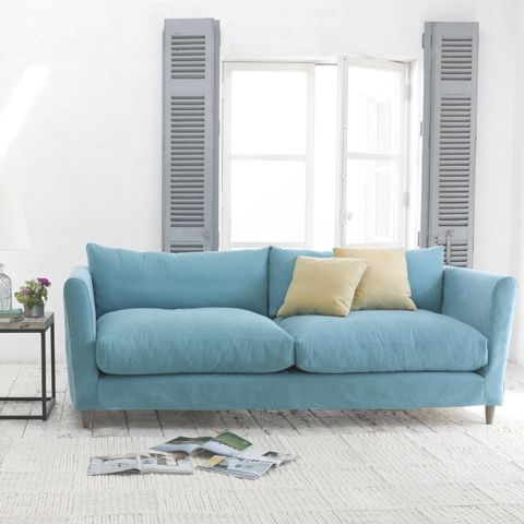 FLOPSTER SOFA with removable cover. This is what life in the slow lane looks and feels like. Loosey goosey, baby. #sofa #removablecover #livingroom