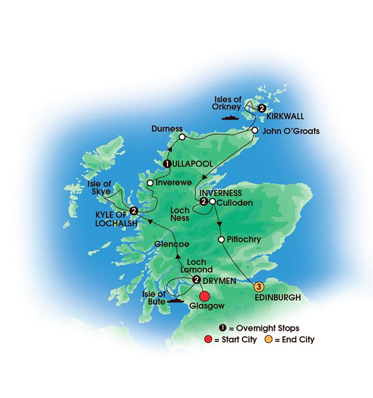Scottish Isles & Glens 13 Day Tour. Overnights: 2 Glasgow, 2 Near Kyle of Lochalsh, 1 Ullapool, 2 Kirkwall, 2 Inverness, 3 Edinburgh - See more at: http://www.cietours.com/ #escortedtour #Scotland Scottish #Scots #Britain #UK #coachtour #Edinburgh #Glasgow #travel #vacation #holiday #Freewifi