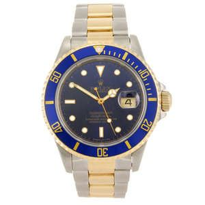Lot: 67   ROLEX - a gentleman's Oyster Perpetual Submariner bracelet watch.        Estimate GBP: £3,400-£4,400
