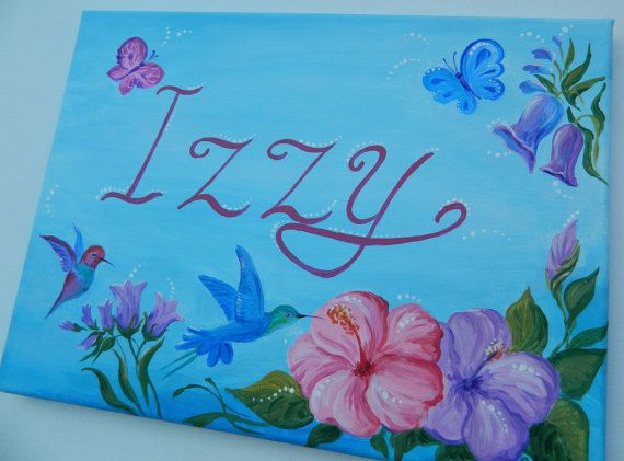 Hey, I found this really awesome Etsy listing at https://www.etsy.com/listing/290675609/butterflies-and-birds-name-sign-blue