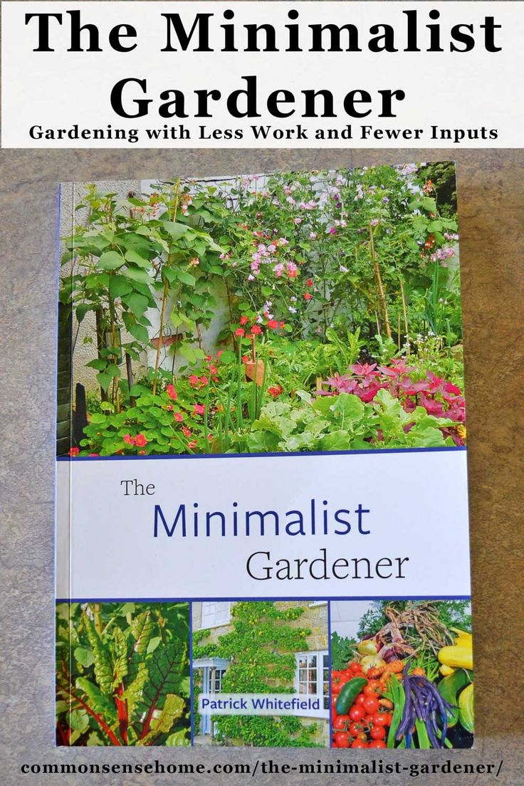 The Minimalist Gardener is a perfect book for those who claim they don't have the time or space for gardening. Filled with colorful photos and easy to read essays, this book invites you to explore the possibilities of low input gardening. #smallgarden #permaculture