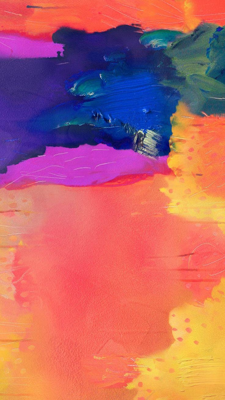 Note Pro Galaxy Painting Art Pattern Rainbow #iPhone #8 #wallpaper