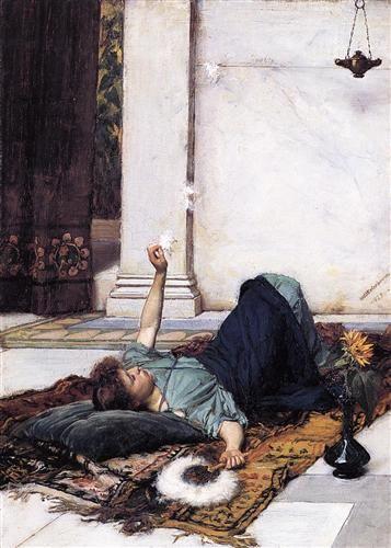 Its sweet doing nothing - John William Waterhouse