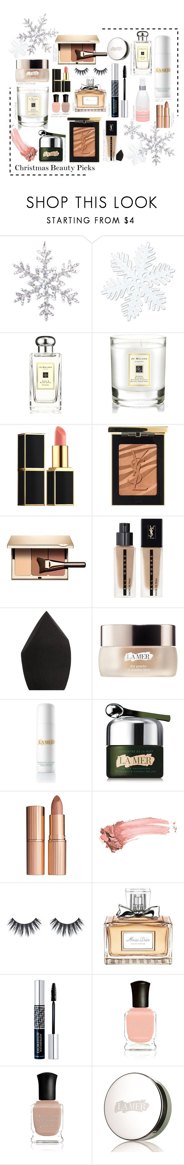 Christmas Beauty Picks by Chantal Tru on Polyvore featuring Yves Saint Laurent, Clarins, Charlotte Tilbury, Christian Dior, Jo Malone, Tom Ford and La Mer