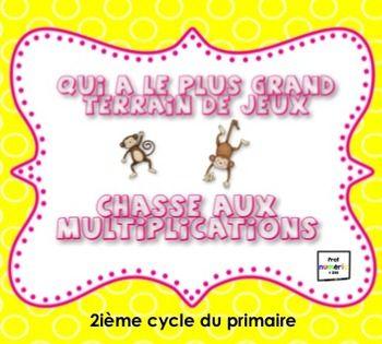 Jeux interactifs sur les multiplications au 2e cycle du primaire. SmartBoard TBI TNI