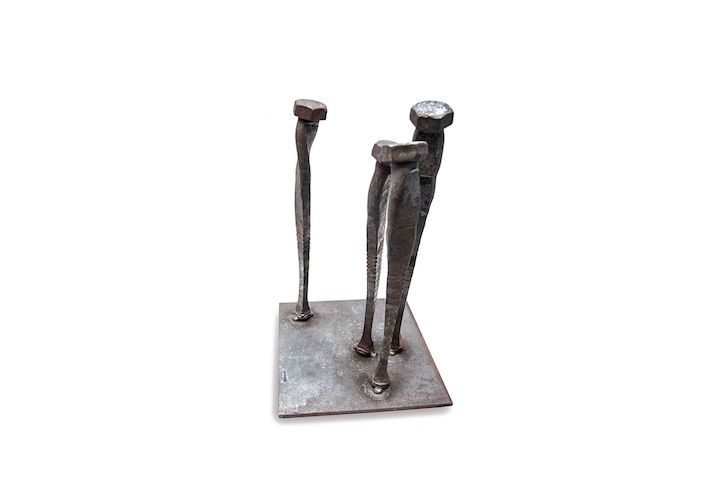 Bolts Bent and Twisted to Resemble Powerfully Emotional, Humanistic Forms - My Modern Met