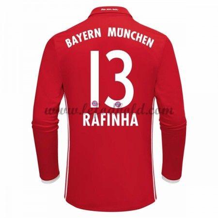 Billige Fodboldtrøjer Bayern Munich 2016-17 Rafinha 13 Langærmet Hjemmebanetrøje