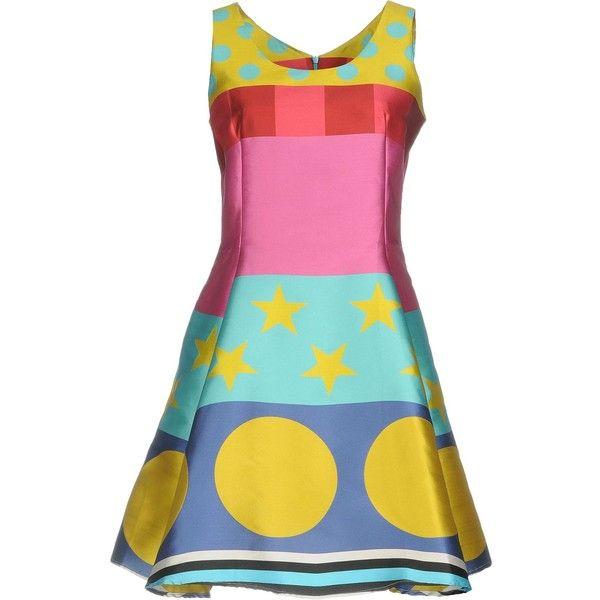 Ultra'chic Short Dress ($410) ❤ liked on Polyvore featuring dresses, fuchsia, sleeveless short dress, fuschia dress, short flare dress, flare mini dress and flare dresses