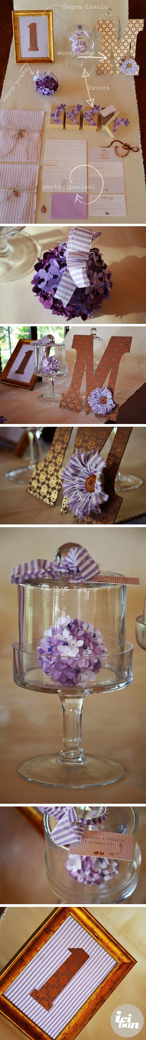 Wedding suite lavanda + bronzo by iciban