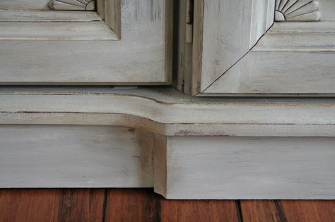Annie Sloan Chalk Paint Paris Grey with an Old White wash. Painting furniture can save a lot of money in the long run.
