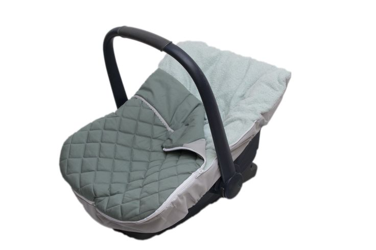 carseat cover Fabs World   #stitched #quilted # vintage green #oudgroen #Fabs Wold #removeable footmuff  shop:Fabs Store