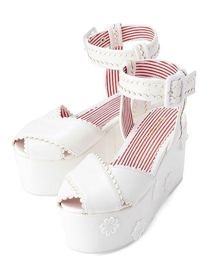 LIZ LISA Cute flower sandals White Japanese Fashion 2014 in Kleidung & Accessoires, Damenschuhe, Sandalen & Badeschuhe | eBay