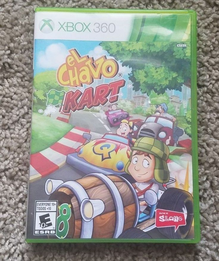 El chavo kart xbox 360 with complete with manual xbox