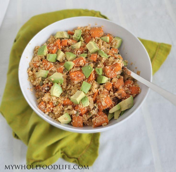 Sweet Potato, Avocado and Cauliflower Rice  #MyWholeFoodLife