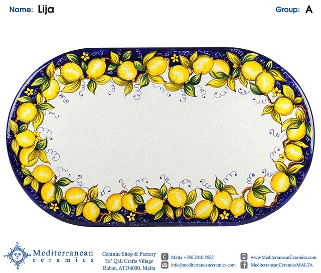 Design: Lija (A) Shown in Oblong by Mediterranean Ceramics, via Flickr
