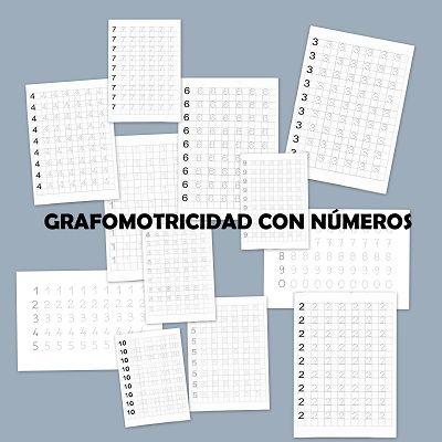 Grafomotricidad con números - Escuela en la nube