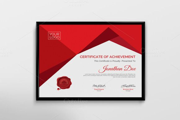 Certificate Template by Cristal Pioneer on @creativemarket