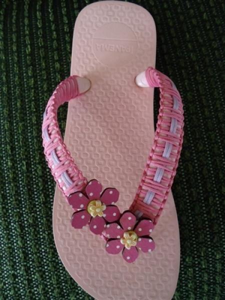 Chinelos decorados, bordados, com decoupage - artesanum com