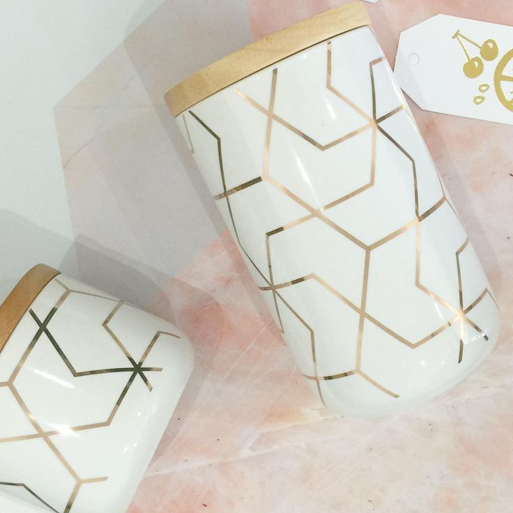 Only a handful of our cute gold hexy canisters left, be quick! www.mylittleempire.com.au  #luckylast #gold #hex #canister #coffee #kitchenstorage #tea #sugar #giftideas #homedecor #homeinspo #homewears #interiorsstore #mylittleempire #dreamhome #homeinspo