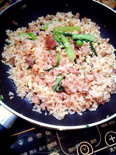 Duck fried rice a la Annie