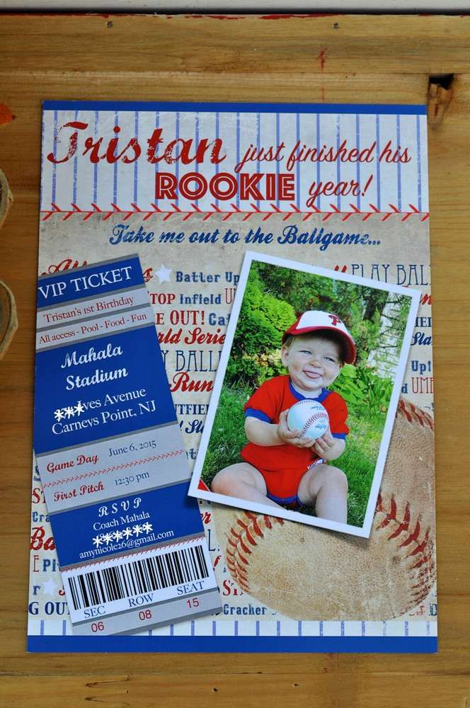 invitation words forst birthday party%0A Baseball Birthday Party Ideas