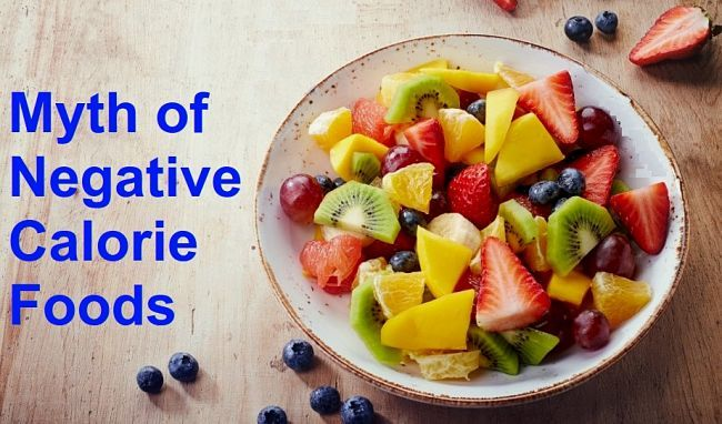 The myth of negative calorie foods, that require more calories to digest than they contain has     been debunked, but many foods have very low calories and are great for dieting