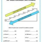This beautiful measurement worksheet (en français) includes a student friendly metric conversion chart, 10 practice questions and an answer key! En...
