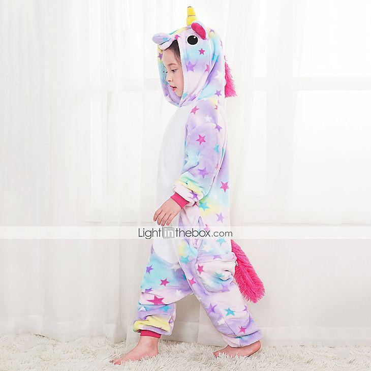 Kids Rainbow Cute Fancy Costume Pajamas Girls Boys Sleepwear Birthday Party Gift