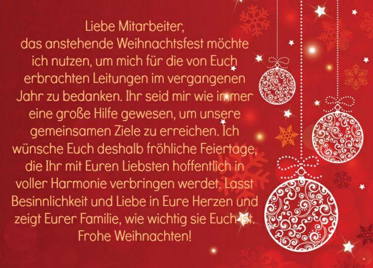 Glückwünsche zu Weihnachten Mitarbeiter