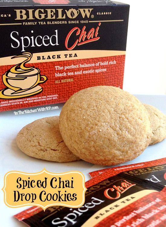 Spiced Chai Drop Cookies #recipe with @Bigelow Tea #AmericasTea #shop www.InTheKitchenWithKP