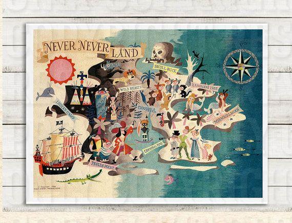 Peter Pan Neverland Printable. Vintage Childrens Printable