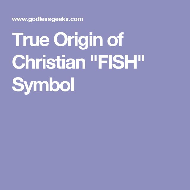 "True Origin of Christian ""FISH"" Symbol"