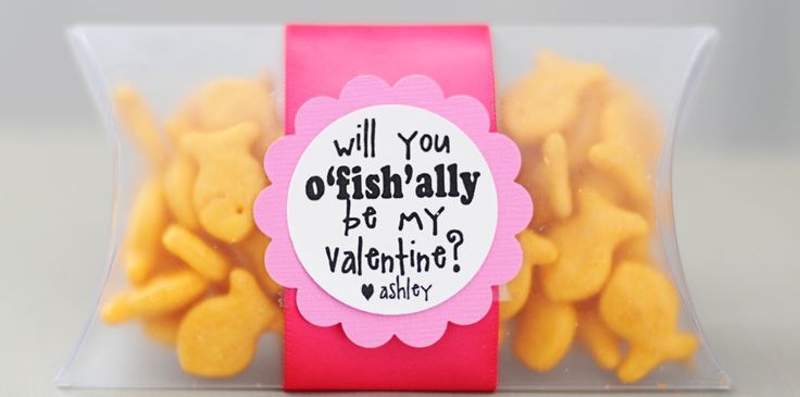 Free printable Goldfish cracker tags: Valentine Treats, Valentine Idea, For Kids, Valentine Day, O' Fish, Cute Idea, Valentine'S S, Valentine Gifts, Goldfish Crackers