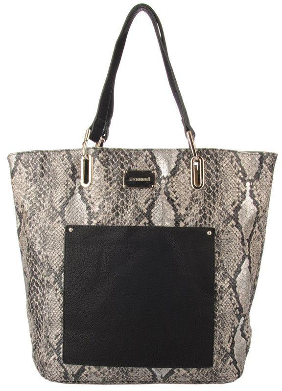 Duża torba z kieszenią - Monnari | Czarne Torebki