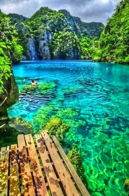 Palawan, Philippines - WOW!! i think i need to go just to see how much colour was put into this picture!