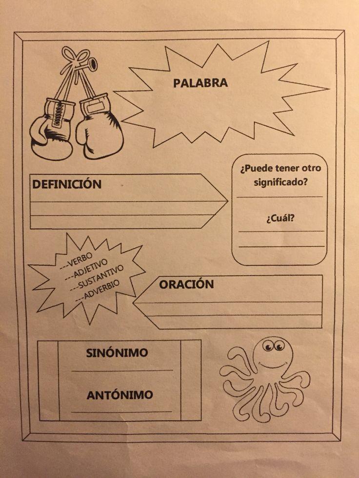 """Guía trabajo vocabulario- Para el cuento """"el diablo y el boxeador"""""""