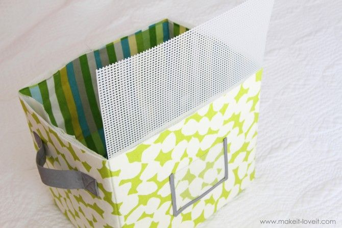 DIY tutorial for making sturdy fabric boxes! How fun, and a great change of pace from all the baskets!